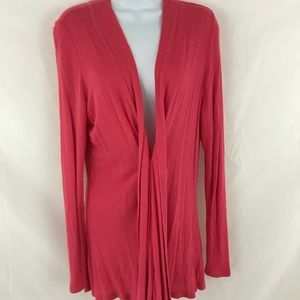Sweaters - Coral pink cardigan